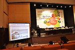 USAID's representative, Mr. Ghani Khan Marwat, during a presentation at Dawn Sarsabz Pakistan Agri Expo.