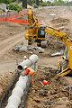 A new drainage line in south Sacramento