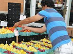 Setting up Produce Stand
