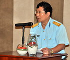 Col. Pham Dinh Chien, head of the Science, Technology, and Environment Division of the Air Defense Air Force Command of the Ministry of National Defence, Addresses the Danang Stakeholder Meeting