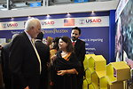 Australian High Commissioner, Mr. Peter Heyward while interacting with the team of USAID's Entrepreneurs Project at  Dawn Sarsabz  Pakistan Agri Expo.