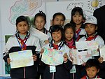 Nam Dinh school students draw paintings to raise awareness about climage change.