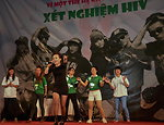 USAID and PEPFAR supports an outdoor concert to promote Vietnam's national action month for HIV