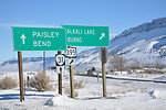 OR winter road scene