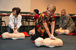 First Aid and CPR training at district headquarters