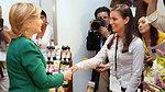 Secretary Clinton With a Woman Entrepreneur
