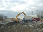 Winter 2003, Loading contaminated sediment for removal
