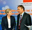 Meeting Co-Chairs Jennifer Orme-Zavaleta and Dr. Le Ke Son at the Seventh U.S.-Vietnam Advisory Committee Meeting (JAC)