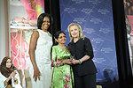 Secretary Clinton and First Lady Obama With 2012 IWOC Award Winner Aneesa Ahmed of Maldives