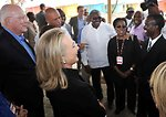 Secretary Clinton and Senator Leahy Meet With Haitian Government Officials