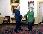 Secretary Clinton Shakes Hands With Lithuanian Foreign Minister Azubalis