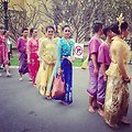 Traditional Thai Dancers Prepare To Perform for President Obama