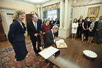 Secretary Kerry Writes a Note in the Birx Family Bible