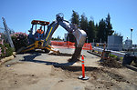 Preparing for levee work near the Fairbairn Water Treatment Plant