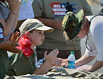 """Applauding warriors (""""Take a Warrior Fishing"""" event at Success Lake)"""