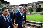 Secretary Kerry Arrives at the OAS General Assembly Plenary Session