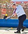 Ambassador Bleich Plays Baseball