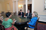 Secretary Clinton, Under Secretary Burns, and Assistant Secretary Blake Meet With Indian Foreign Secretary Rao