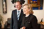 Secretary Clinton Speaks With New Zealand Prime Minister Key