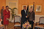 Secretary Clinton Meets With Jamaican Foreign Minister Baugh