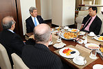 Secretary Kerry Holds a Breakfast Meeting With Colombian Peace Negotiators