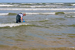 June 4, Collecting water for testing at Grand Isle State Park, La