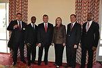 Secretary Clinton Poses for a Photo With Caribbean IDEA Markteplace Partners