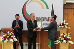 USAID Mission Director William Hammink received an award from Kabul Chamber of Commerce and Industries for his great contribution for India-Afghanistan Innovation Partnership Fair