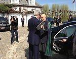 Secretary Kerry Greets Afghan President Hamid Karzai