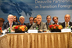Secretary Clinton Hosts G8 Deauville Partnership with Arab Countries in Transition Foreign Ministers Meeting