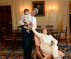 Secretary Kerry and his Wife, Teresa Heinz Kerry, Enjoy Their Grandson