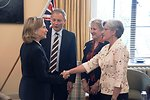 Secretary Clinton Meets With New Zealand Opposition Leaders