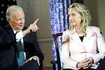 Secretary Clinton and Former Secretary Baker With Charlie Rose