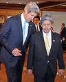 Secretary Kerry Chats With Prince Bolkiah of Brunei
