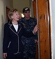 Secretary Clinton Visits Clinic in Haiti
