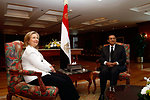 Secretary Clinton Meets With Egyptian President Mubarak