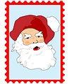 Santa claus christmas postage