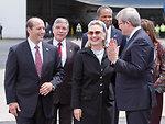 Ambassador Bleich, Secretary Clinton, and Australian Foreign Minister Rudd Chat