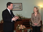 Secretary Clinton Holds a Bilateral Meeting With British Prime Minister Cameron