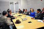 Secretary Clinton, Assistant Secretary Brimmer, Special Representative Holbrooke, and USAID Administrator Shah