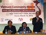 USAID Mission Director Francis Donovan addresses participants at the Community REACH project workshop