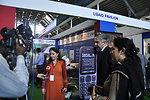 USAID's representative, Ms. Kanwal talking to Media at Dawn Sarsabz Pakistan Agri Expo.