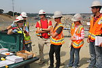 Construction and engineering students visit the Folsom spillway job site