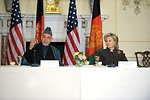 Secretary Clinton Hosts Bilateral Meeting With Afghan President Karzai