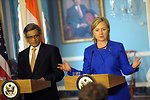 Secretary Clinton Responds to Questions With Indian Minister of External Affairs S.M. Krishna