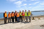 Congressman Dan Lungren, Col. Mike Wehr with Folsom Dam Joint Federal Project team members