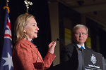 Secretary Clinton and Australian Foreign Minister Rudd Hold a Joint Press Conference