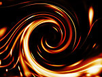 Fire spiral out of focus