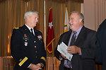 Major Gen. Walsh talks with Richard Johnson