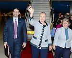 Secretary Clinton Arrives in Jerusalem